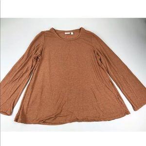 Logo Lori Goldstein Long Bell Sleeve Knit Tunic XL